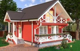 Проект жилого дома из клеёного бруса с парной КБ-96-А
